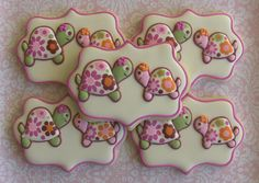 One Dozen 12 Mommy and Baby Turtle / Baby Shower by DolceDesserts