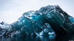 An upside down iceberg in Antarctica