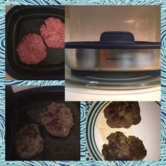 Grilled Hamburgers in 6 minutes in the MICROWAVE say what! #tupperwaremicroprogrill #reneestupperware www.reneestupperware.my.tupperware.com
