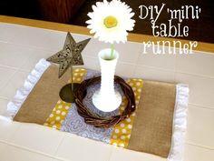 DIY Fall  Mini  table runner!