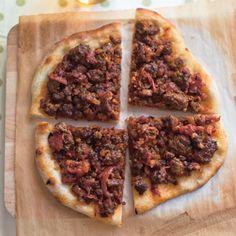 Lamb Pizza Recipe at Epicurious.com