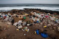 Plastic Garbage Island | beach garbage piles a regular occurrence and normal part of life in ...