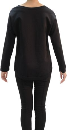 Back side , Sweatshirt Rose Print,Claudio Ferniani