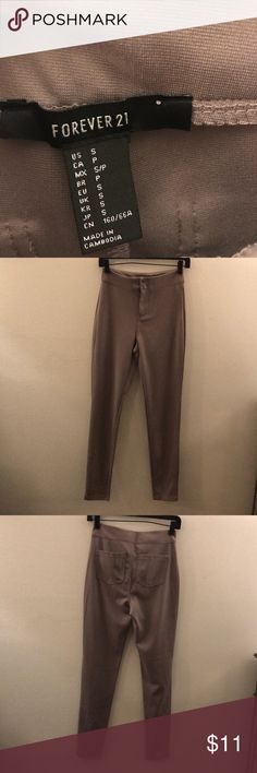 Forever 21 Small taupe pants. Never been worn. Forever 21 Pants Leggings