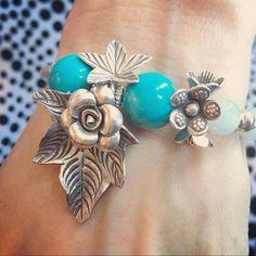 #Repost @myujp  #M'yu#design#blacelet #turquoise #larimar #karensilver  #stone#jewelry#craft  #handmade #flowers  #blue#hawaii #inspiration  #instafashion  #ミュー#オリジナルデザイン #ハンドメイド#ブレスレット #ターコイズ#ラリマー #カレンシルバー#ストーン#天然石 #フラワー#ジュエリー #ブルー#ハワイ#インスピレーション