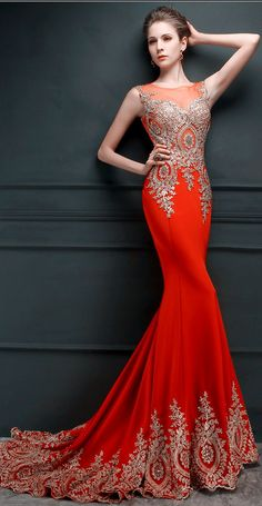 $99-Gorgeous Lace Applique Mermaid Evening Gowns Sheer Tulle Embroidery Long Formal Prom Dresses
