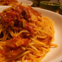 tomato pasta with bacon Noodle Recipes, Veggie Recipes, Asian Recipes, Gourmet Recipes, Cooking Recipes, Ethnic Recipes, Tasty Noodles Recipe, Japanese Dishes, Cafe Food