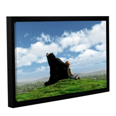 Cloud Watchers by Cynthia Decker Gallery-Wrapped Floater-Framed Canvas