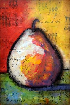 Pear - Mixed Media