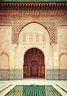 Beautiful architecture in Morocco.                                                                                                                                                      More