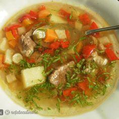 Reteta Bors Moldovenesc Limpede, de Vaca Romanian Food, Thai Red Curry, Soup, Ethnic Recipes, Cow, Soups