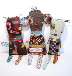 Monsters Mugslie, Crocus and Vooville/Junker Jane dolls