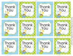 Printable Noahs Ark Baby Boy Thank You Tags - Instant Download