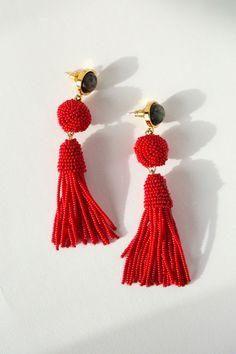 Lizzie Fortunato Earrings - Red Havana Earrings   BONA DRAG