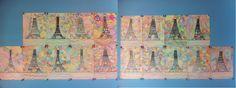 le site de l'école de Martigny-les-Bains - CM1-CM2 (2012-2013) - Tour Eiffel de Robert Delaunay
