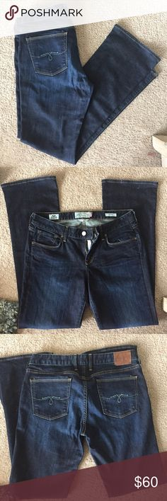 """EUC Lucky Brand Flare Jeans 🌀 Jeans from Lucky Brand, in excellent condition! Style is """"Lolita Boot"""". Dark wash flared jeans, very comfortable and cute! Make me an offer 💕 inseam measurements will be posted upon request! Lucky Brand Jeans Boot Cut"""