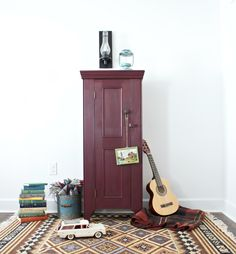 Lovely red painted cabinet using @ChalkWorthy in Thistle | Dear Emmeline