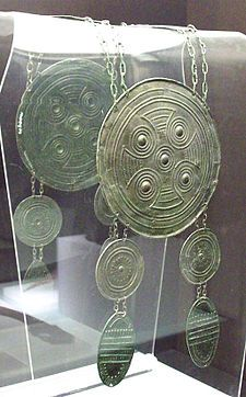 Celtiberian breastplate from Iron Age II. Between 425 and 326 BC, bronze. Celtic Symbols, Celtic Art, Iron Age, Historical Artifacts, Ancient Artifacts, Alexandre Le Grand, Celtic Nations, Ancient Armor, Talisman