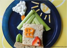 "Healthy House sandwich to link with the sunshine pre-primer book ""The New House""."