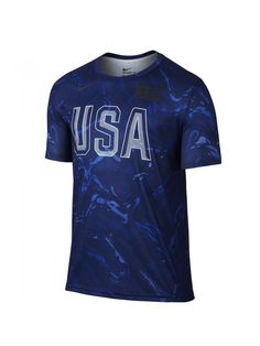 Nike USA Basketball Branded bleu 835769-100 Nike T, Mens Tops, Html, Basketball, Athletic, Usa, Free, Fashion, Switzerland
