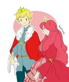 Queen Bubblegum and Finn the King by memmemn.deviantart.com on @deviantART