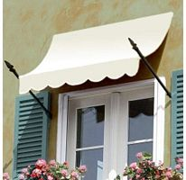 Awntech Beauty-Mark New Orleans 4 ft. Window/Door Awning Tan and White Stripe - Products Awntech Beauty-Mark New Orleans 4 ft. Window/Door Awning Tan and White Stripe - New Orleans, Window Awnings, Patio Awnings, Outdoor Window Shutters, Garden Awning, Window Canopy, Attic Window, Retractable Awning, Cost Saving
