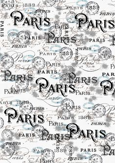 ** free printable paper Paris **