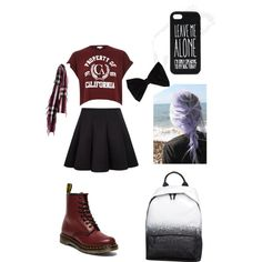 A fashion look from March 2015 featuring crop top, black skirt and Dr. Martens. Browse and shop related looks.