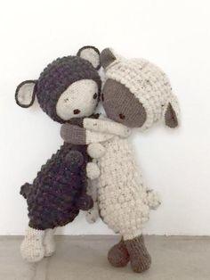 LUPO the lamb made by Dana H. / crochet pattern by lalylala. Amigurumi Doll, Amigurumi Patterns, Doll Patterns, Crochet Doll Pattern, Crochet Dolls, Crochet Patterns, Crochet For Kids, Diy Crochet, Knitted Animals