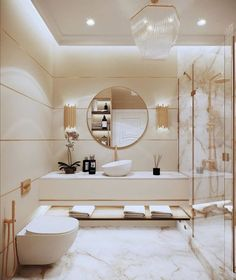 Gorgeous Luxury Bathroom Design Ideas You Definitely Like - Have you long dreamed of having a luxurious bathroom that would be the envy of all who saw it? If so, there are a few key features you might want to c. Bathroom Design Luxury, Luxury Interior Design, Modern Luxury Bathroom, Luxurious Bathrooms, Elegant Bathroom Decor, Best Bathroom Designs, Luxury Decor, Interior Architecture, Bad Inspiration