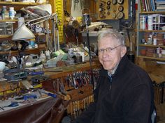 Fred Woell in his studio, Deer Isle, Maine, All photos courtesy of Eleanor Moty. You will be missed! Deer Isle Maine, Evergreen Park, Art Grants, American Crafts, Teaching Art, Interview, Studio, Designers, Special People