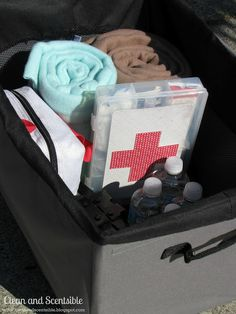 How to organize your car. (These tips are excellent!) One tip is to have EMERGENCY ITEMS -  have a bag of jumper cables and some basic repair tools, also keep six bottles of water, some granola bars, a flashlight, and a couple of blankets in a bin in the trunk for a little emergency kit. Check out the link b/c there are many more good ideas....