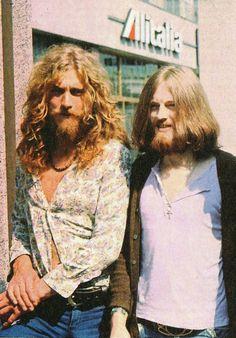 Robert Plant and John Paul Jones in Italy, 1971.