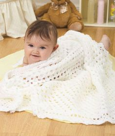 Lovable Baby Blanket Free Crochet Pattern in Red Heart Yarns