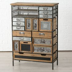 Looking for stylish storage solutions? Browse our range of white bedroom furniture & pine, oak & mirrored chests of drawers. Enjoy FREE & fast delivery on orders over Shop Online now! Metal Drawers, Wood And Metal, Solid Wood, Tree House Interior, Scrapbook Storage, Primitive Furniture, Rustic Furniture, Accent Chest, Industrial Furniture