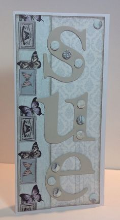 Card designed by Kath Woods Butterfly Kisses, Butterfly Cards, Butterflies, Craftwork Cards, Woods, Card Ideas, Card Making, Collections, How To Make