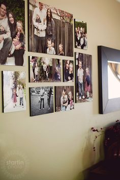wall collage - good set up for travel pictures