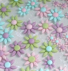 Fondant flowers for easter cupcakes by Torie Jayne