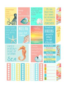 New Summer Freebie Planner Stickers and Silhouette Cameo Tutorial
