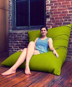 Take a look at this Lime Green Jaxx Pillow Saxx Bean Bag by Jaxx Bean Bags on #zulily today!