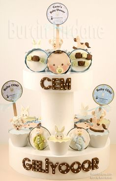 Cupcake shower de bébé /  Baby shower cupcake
