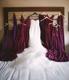 Mix match burgundy bridesmaid dresses                                                                                                                                                                                 More