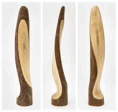 ESCULTURA. Madera de Platano, 58x10x9 cm. Autor: Luis Clúa. Wood Carving Designs, Wood Carving Patterns, Wood Carving Art, Wood Art, Scrap Wood Projects, Woodworking Projects Diy, Wooden Vase, Wooden Diy, Stone Sculpture