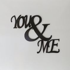 You & Me metal sign by LeatonMetalDesigns. Explore more products on http://LeatonMetalDesigns.etsy.com