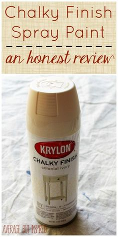 If you've wondered whether chalky finish spray paint works well or not, you'll want to pin this! The post gives a full, unbiased review of the pros and cons of the product.