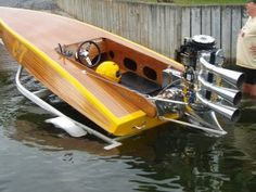 vintage speed boat w/Mercury O. Wooden Speed Boats, Classic Wooden Boats, Boat Engine, Fast Boats, Vintage Boats, Float Your Boat, Old Boats, Charter Boat, Yacht Boat