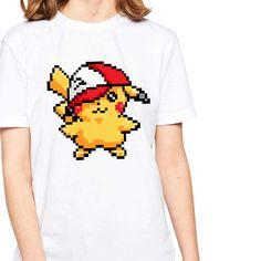 H972 Design Pokemon Pikachu Funny Lie Fallow Short Sleeve Comics Printed T shirt #PokemonGO #pokemon #TeamMystic #TeamValor #TeamInstinct #GottaCatchEmAll