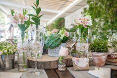 decoração mesas de convidados para casamento rústico - Google Search
