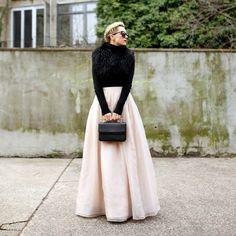 Maxi Organza Skirt | Topista