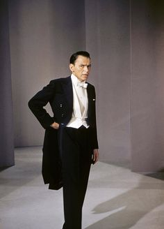 """Frank Sinatra filming the """"What Do I Care for a Dame?"""" dream sequence in Pal Joey (1957)"""